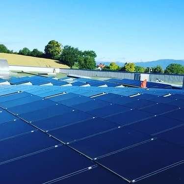 Nettoyage de panneaux photovoltaïques à Reims