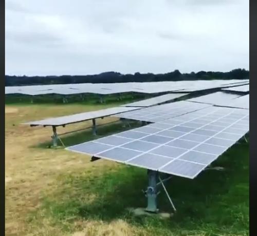 Nettoyage de trackers solaires - Vendée